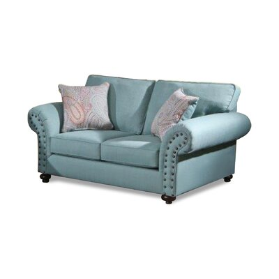 Holzer Loveseat Upholstery: Crawford Turquoise