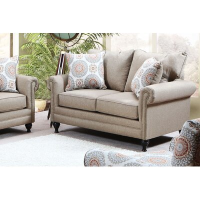 Dierks Loveseat Upholstery: Compel Wheat