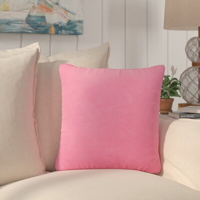 Dugan Soft Suede Throw Pillows Color: Pink
