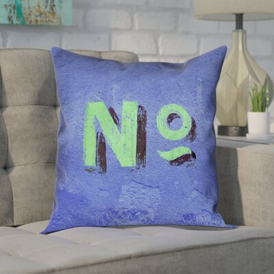 Enciso Graphic Double Sided Print Wall Pillow Cover Size: 14 x 14, Color: Blue/Green