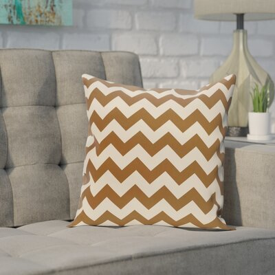Bunnell Geometric Throw Pillow Size: 16 H x 16 W, Color: Cocoa