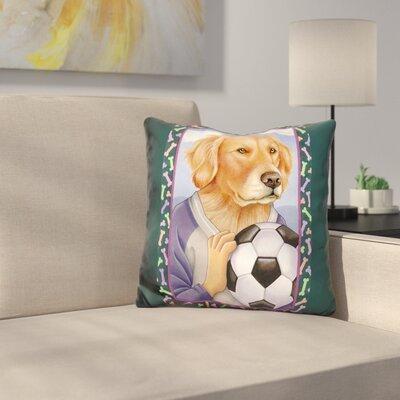 En Retriever Soccer Ball Throw Pillow