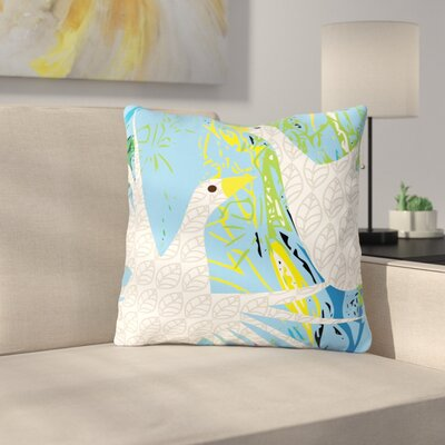 Pond Birds by Patternmuse Throw Pillow Size: 16 H x 16 W