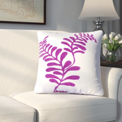 Craig Embroidered Cotton Throw Pillow (Set of 2) Color: Purple