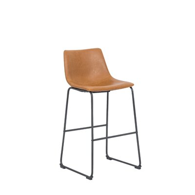 Marek Vintage 25.5 Bar Stool Color: Tan