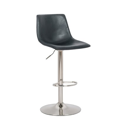 Marenco Hydraulic Liver Adjustable Height Swivel Bar Stool Color: Black