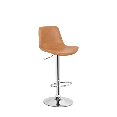 Stamm Unique Hydraulic Adjustable Height Swivel Bar Stool Color: Tan