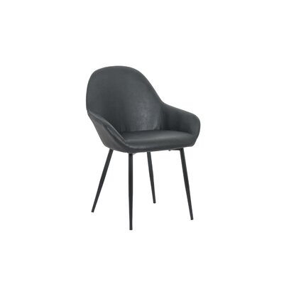 Marez Upholstered Dining Chair Color: Black
