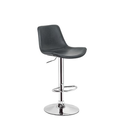 Stamm Unique Hydraulic Adjustable Height Swivel Bar Stool Color: Black