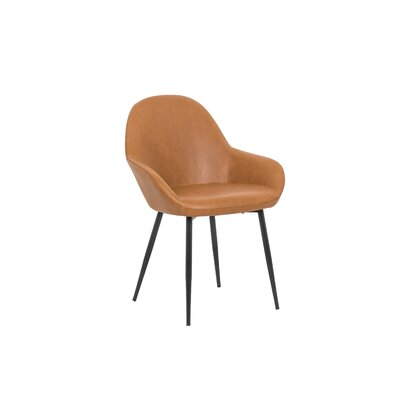 Marez Upholstered Dining Chair Color: Tan