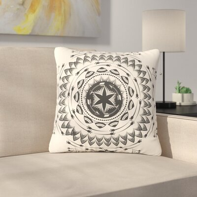 Famenxt Boho Tribe Mandala Outdoor Throw Pillow Size: 16 H x 16 W x 5 D