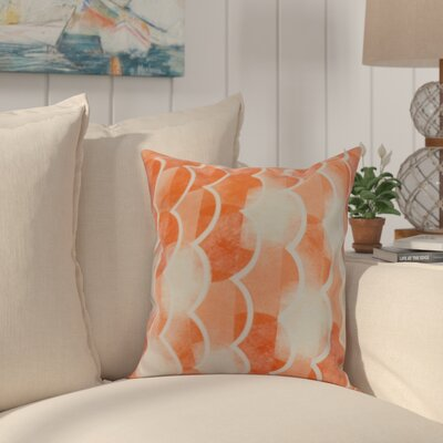 Harriet Throw Pillow Color: Orange, Size: 16 x 16