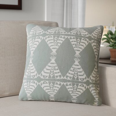 Roi Graphic Cotton Throw Pillow Color: Gray