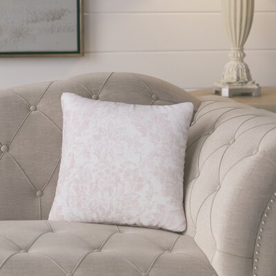 Zenon Rose Throw Pillow Size: 16 H x 16 W x 6 D