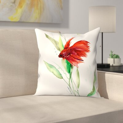 Betta Throw Pillow Size: 18 x 18