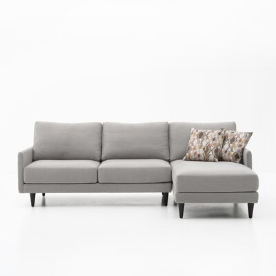 Costin Sectional Color: Gray, Orientation: Right Hand Facing