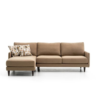 Costin Sectional Color: Light Brown, Orientation: Left Hand Facing