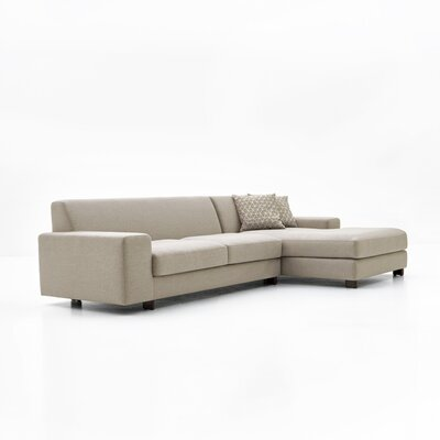 Priestley Sectional Upholstery: Light Gray, Orientation: Right Hand Facing