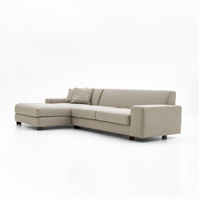 Priestley Sectional Upholstery: Light Gray, Orientation: Left Hand Facing