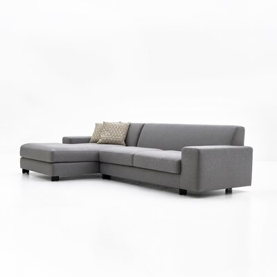 Priestley Sectional Upholstery: Dark Gray, Orientation: Left Hand Facing