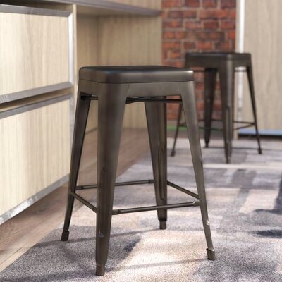 Hera 24 Bar Stool Finish: Bronze