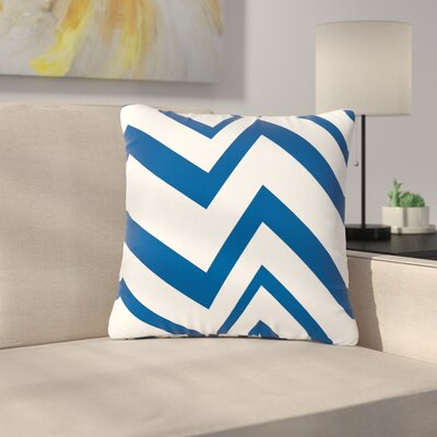 NL Designs ZigZag Outdoor Throw Pillow Size: 16 H x 16 W x 5 D, Color: Navy