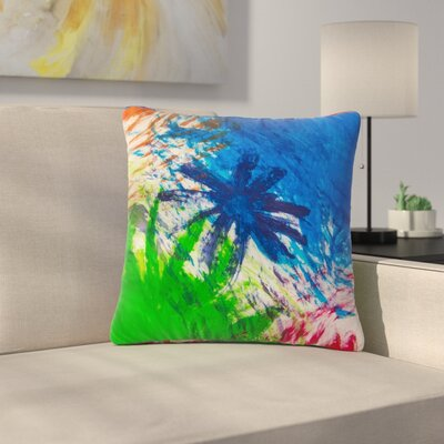 NL Designs Splatter Stars Abstract Painting Outdoor Throw Pillow Size: 18 H x 18 W x 5 D