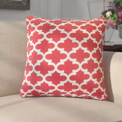 Luigi Geometric Cotton Throw Pillow Color: Red