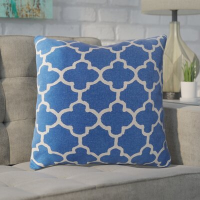 Arbogast 100% Cotton Throw Pillow Color: Marine Blue
