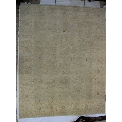 One-of-a-Kind Dundermot Hand-Knotted Wool Beige Area Rug