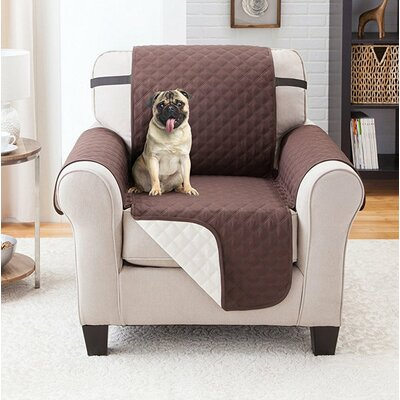 Reversible Armchair Slipcover Upholstery: Coffee/Tan