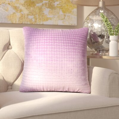 Vadim Solid Down Filled Throw Pillow Size: 18 x 18, Color: Lilac