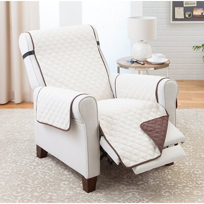 Reversible Recliner Slipcover Upholstery: Coffee/Tan