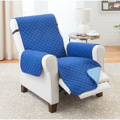 Reversible Recliner Slipcover Upholstery: Blue/Light Blue
