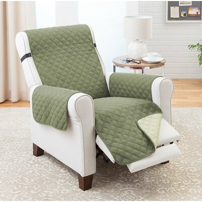 Reversible Recliner Slipcover Upholstery: Olive/Sage