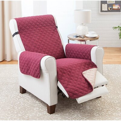 Reversible Recliner Slipcover Upholstery: Burgundy/Tan