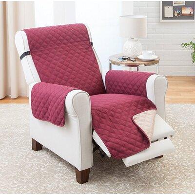 Reversible Recliner Slipcover Upholstery: Burgundy/Tan