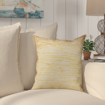 Boubacar Outdoor Throw Pillow Size: 18 H x 18 W, Color: Yellow