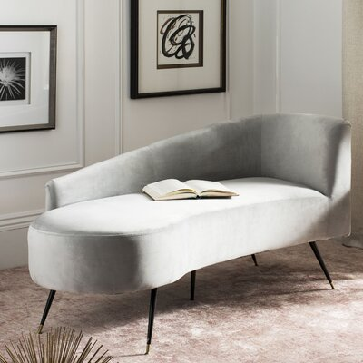 Sheena Settee Chaise Lounge Upholstery: Gray
