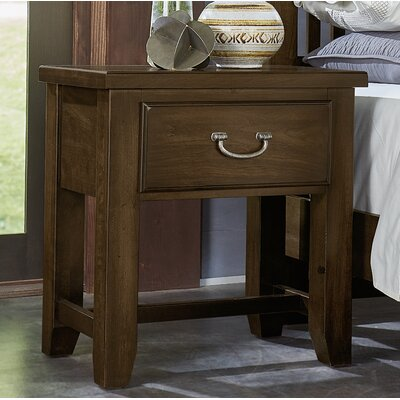Rambert 1 Drawer Nightstand Color: Chestnut