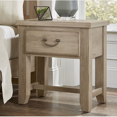 Rambert 1 Drawer Nightstand Color: Sandstone