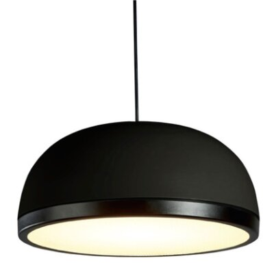 Tooy Molly 1-Light LED Inverted Pendant Shade Color: Black, Size: 6.5 H x 15 W x 15 D