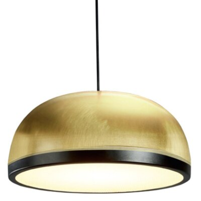 Tooy Molly 1-Light LED Inverted Pendant Shade Color: Brass/Black, Size: 6.5 H x 15 W x 15 D