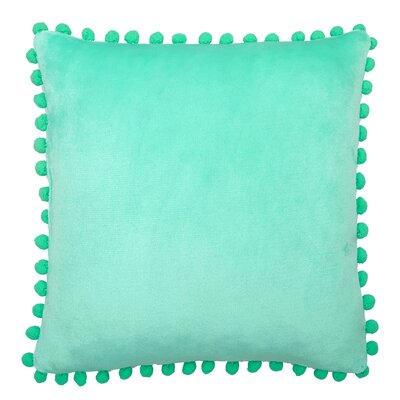 Denny Pom Pom Throw Pillow Color: Mint