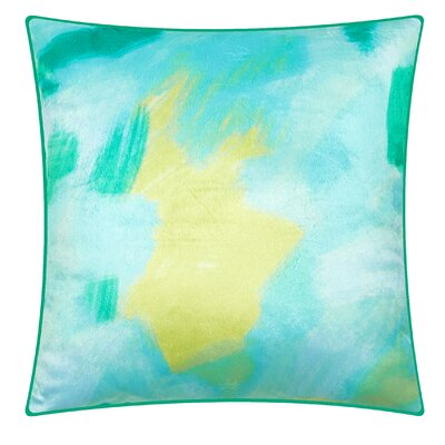 Denpasar Splash Throw Pillow Color: Green