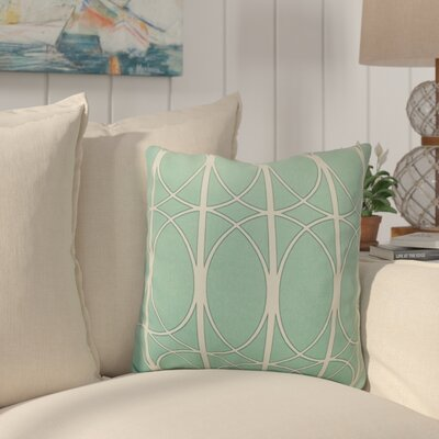 Bateman Aqua Outdoor Throw Pillow