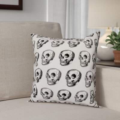 Skull Sketch Pattern Throw Pillow Pillow Use: Outdoor