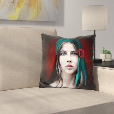 Women Portrait Throw Pillow