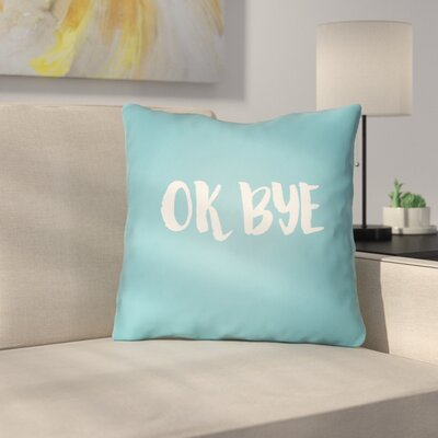Indoor/OutdoorThrow Pillow Size: 20 H x 20 W x 4 D, Color: Blue