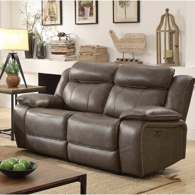 Rangel Genuine Leather Reclining Loveseat